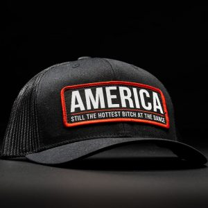 America Bitch Hat Black