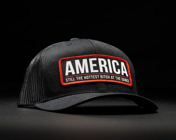 America Bitch Hat Black