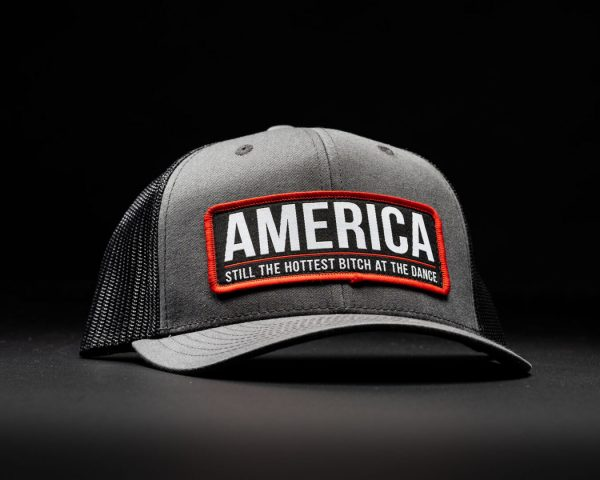 America Bitch Hat Grey