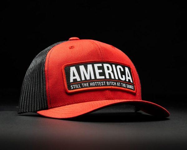 America Bitch Hat Red