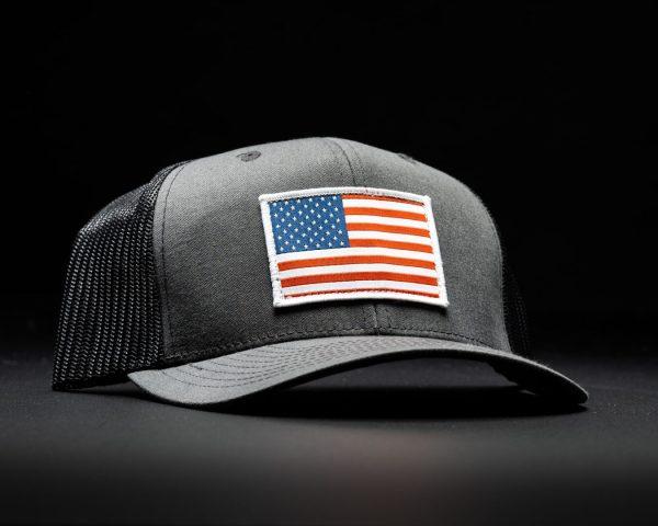 American Flag Hat Dark Grey