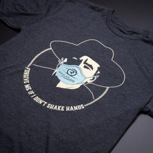 Womens Mask T Shirt Heather Grey